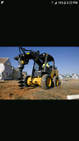 Skidsteer services and post holes