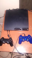 120 gig ps3+4 games+2 controllers+2gun controllers+ps move