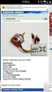 1400 - 2000 kv brushless motor