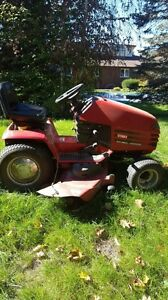 Toro Wheel Horse lawn tractor, Trailer and Leaf Sweeper package