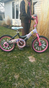 Girls 16 inch tinkerbell bike