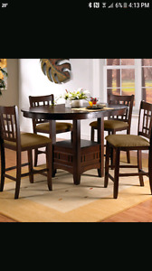 Pub style table with 4 chairs for sale