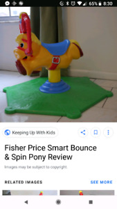 Fisher Price Bounce & Spin Turtle & Pony