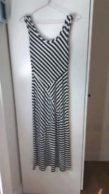 long stripy dress S / 6