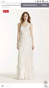 Wedding *Skirt only* tiered lace with beading detail