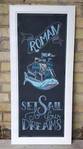 *Custom Chalkboard Artwork* Perfect for Nursery or  Wedding