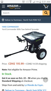 Fertilizer and seed spreader like new