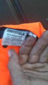 Hi vis insulated coveralls