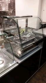 Heated display cabinet/ chicken food display warmer