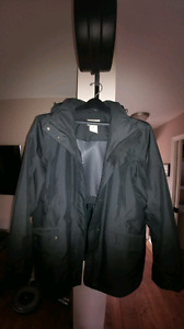 Ladies Black LL Bean rain jacket size L