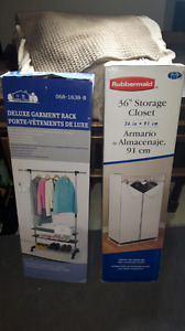 CLOTHING RACKS FOR SALE. I HAVE 2 AVAIL