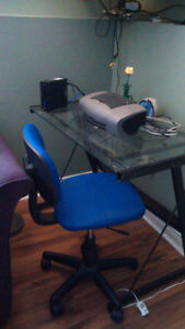 Reduced Computer chair and desk