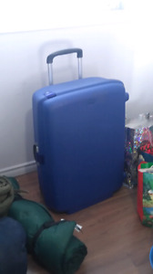 Large hard suitcase