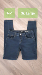 Jeans stretch taille basse Large