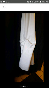 Beautiful custom-made white silk wedding gown