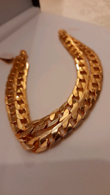 22k Gold plated heavy high quality 24cm each side men chain