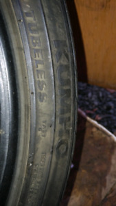 Kumho 225/40/18 set of four summer tires!! Great buy!!