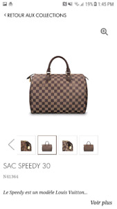 Sac a main Louis Vuitton Speedy 30