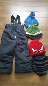 Snowpants and Hats
