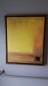 Canvas art with wooden frame
