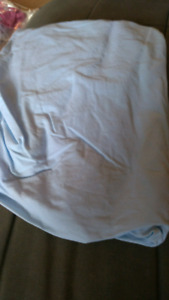 Blue Fitted Sheet for Crib or Toddler Bed