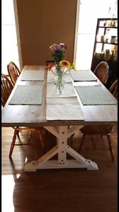 Handcrafted custom dining sets