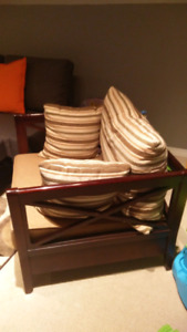 Lounge Chair Seat Stool Decor Furniture Half Couch Accent