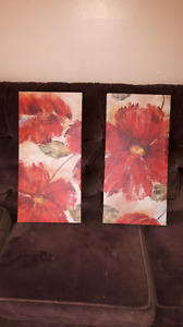 2 pc Canvas panting