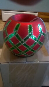 NEW Christmas Glass Candle Holder