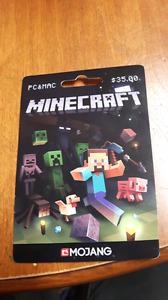 Carte jeux minecraft pc et mac