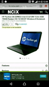 HP g6 laptop