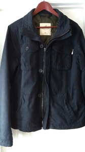Hollister mens xl Quilted inside Navy Blue Jacket