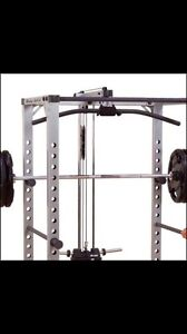 Looking for Bodysolid Lat attachment for squat rack