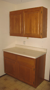 MUST SELL!! SOLID OAK KITCHEN CABINET- EXCELLENT CONDITION!