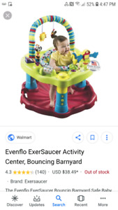 Exersaucer for baby to jump and play in