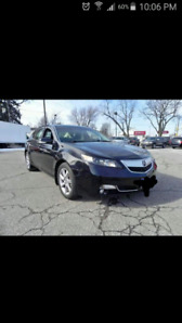 2013 ACURA TL , Base model,112765km, Black,