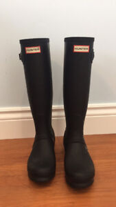 Size 6 Hunter Boots Matte Black Original