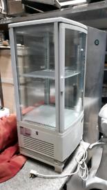 Cake drink display fridge counter top