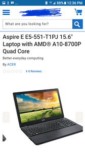 Acer Aspire E5-551-T1PJ in excellent condition