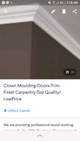 Crown moulding-baseboards-trim work-finish carpentry