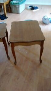 2 solid wood end tables Kingston Kingston Area image 1