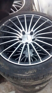18 inch Fast alloy rims with tires