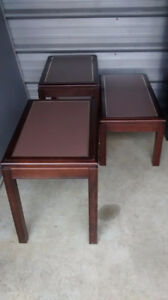 Sklar Peppler -coffee table and end tables