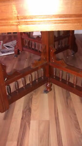 Solid Walnut dining table, chairs and china cabinet Kingston Kingston Area image 4