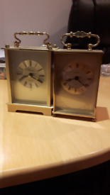 2 X WORKING CARRIAGE CLOCKS