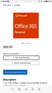Office 365 personal 1 year on sale.