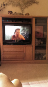 T.V. Entertainment  Unit..Solid wood... $85.00 REDUCED  to 65.00