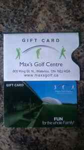 $75 gift card to Max's Golf Center