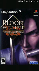 (Très Rare) Blood Will Tell Playstation 2