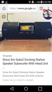 Sirius Xm Subx2 Docking Station Speaker Subwoofer With Head Unit